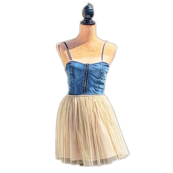 ☀️4/25 Denim and Lace Skater Dress